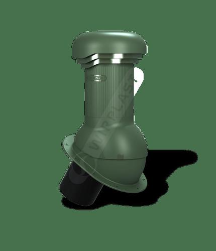 W07 wentylator dachowy dn125 zodpływem kondensatu zielony
