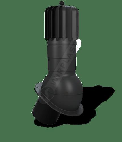 T51 kominek dn150 obrotowy zodpływem kondensatu czarny