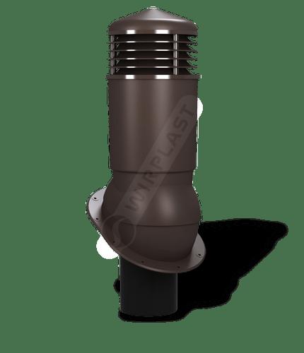 K89 kominek dn125 izolowany brązowy ciemny 8019