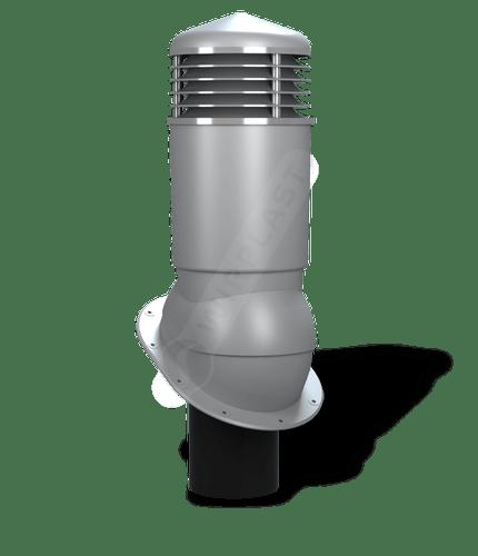 K89 kominek dn125 izolowany szary