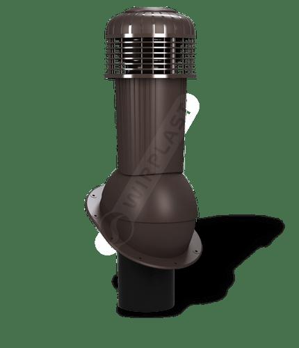 K90 wentylator dachowy dn125 zodpływem kondensatu brązowy ciemny 8019
