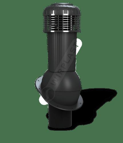 K90 wentylator dachowy dn125 zodpływem kondensatu czarny
