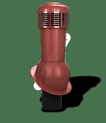 K90 wentylator dachowy dn125 zodpływem kondensatu czerwony