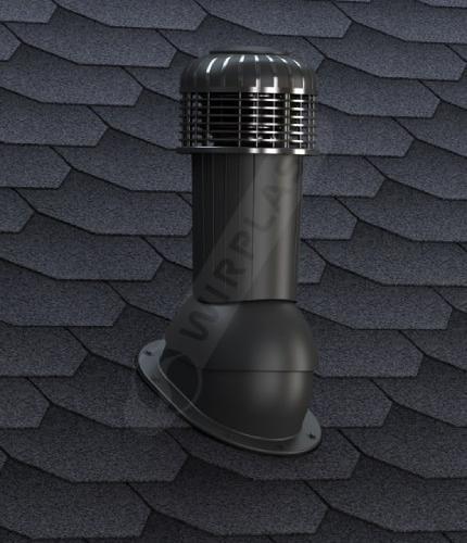 K90 wentylator dachowy czarny  gont
