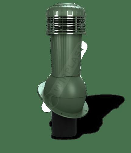 K90 wentylator dachowy dn125 zodpływem kondensatu zielony