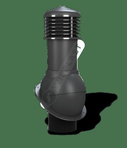 K52 kominek dn150 nieizolowany antracytowy