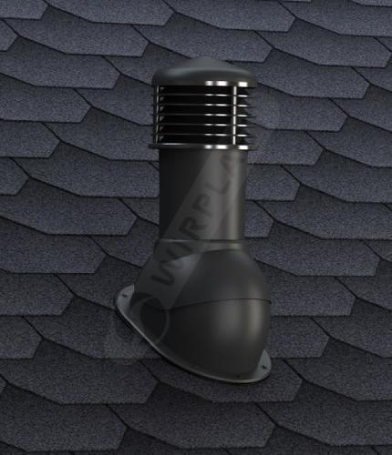 K52 kominek nieizolowany czarny gont