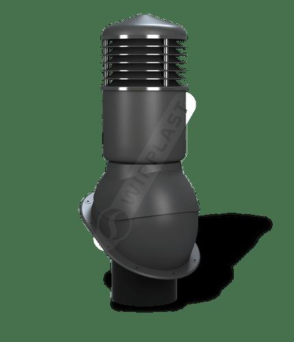 K54 kominek dn150 izolowany antracytowy