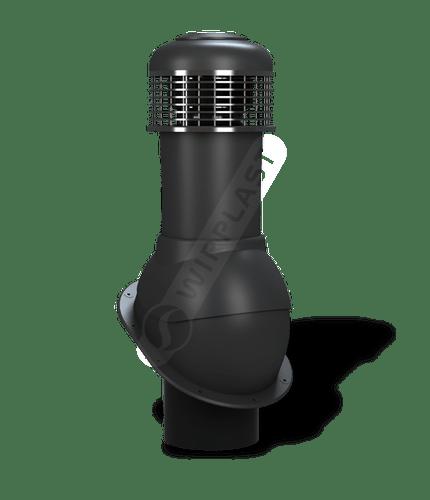 K66 wentylator dachowy dn150 czarny
