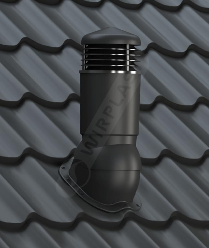 kominek dn 125 izolowany czarny