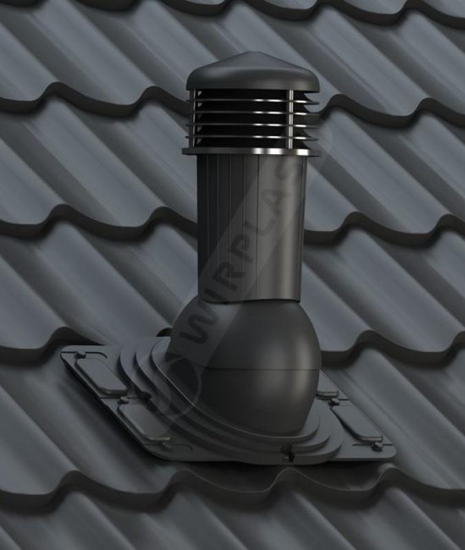 k91 kominek uniwersalny z odpływem kondensatu czarny