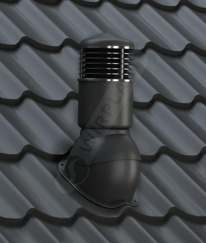 kominek dn 150 izolowany czarny