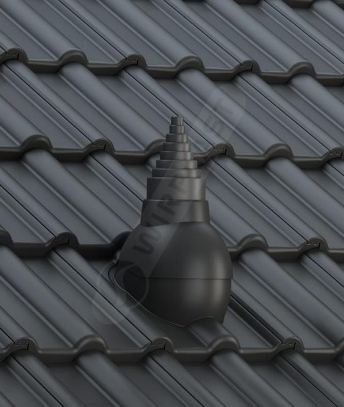P56 dachówka betonowa czarna