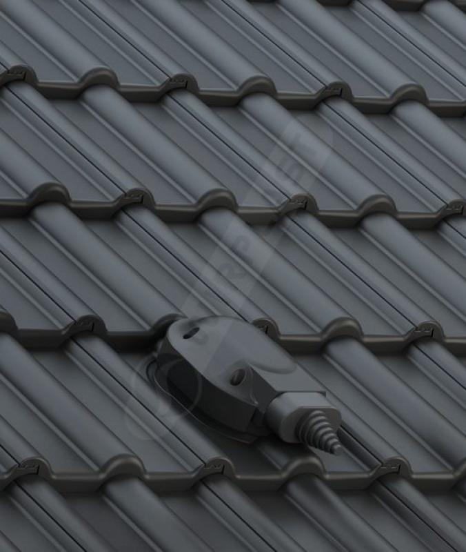 S56 dachówka betonowa czarna