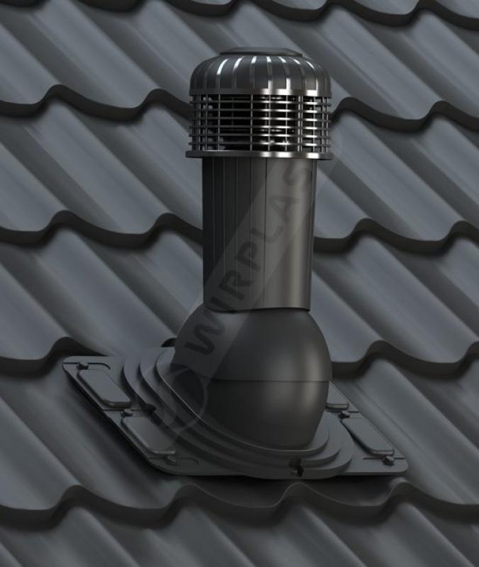 K93 wentylator dachowy czarny