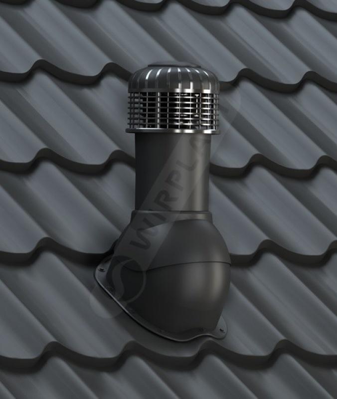 K65 wentylator dachowy dn 150 czarny