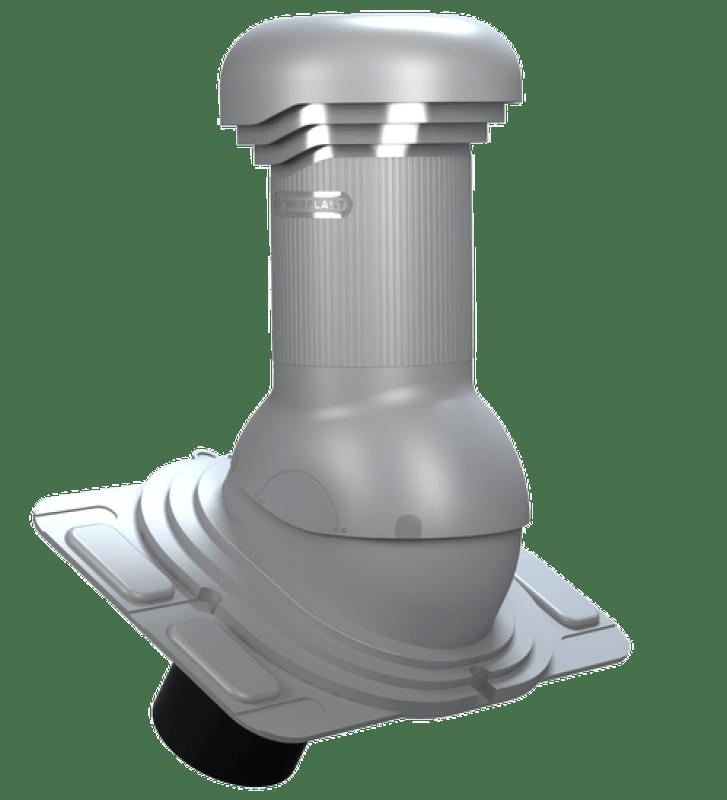 wentylator dachowy dn125 uniwersalny z odpływem kondensatu szary