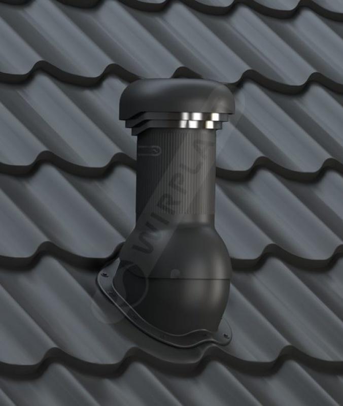 wentylator dachowy dn125 z odpływem kondensatu czarny